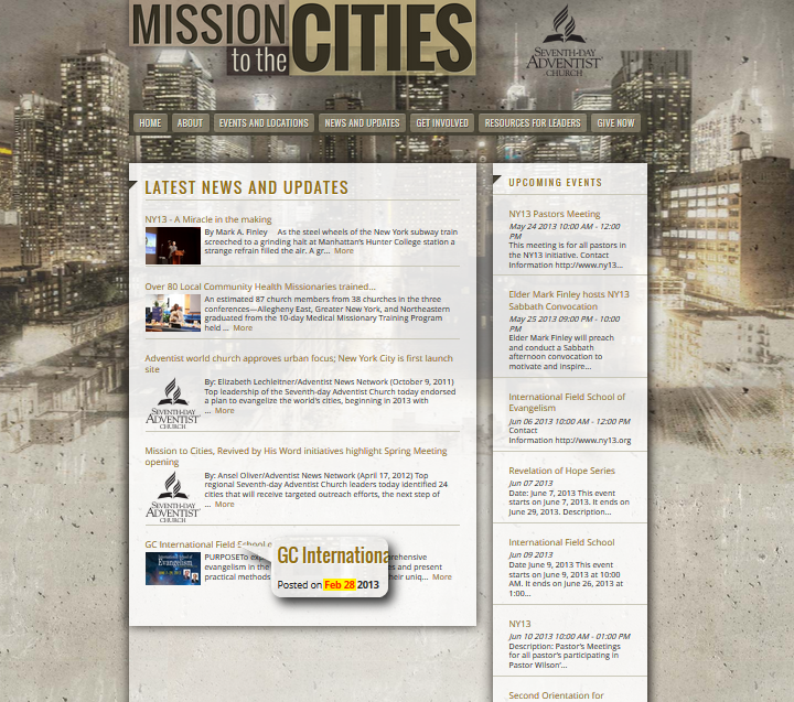 Mission to the Cities screenshot