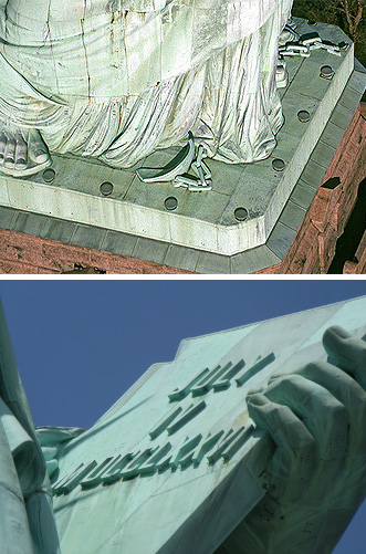 Statue of Liberty details