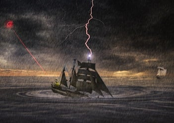 The Church Ship in danger