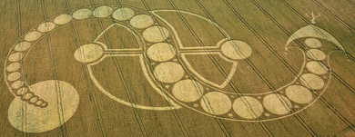 Quetzalcoatl crop circle