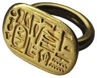 An ancient signet ring
